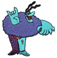 The-Beatles-Movie-Character-Chief-Blue-Meanie-Patch-Cartoon-Iron-On-Applique