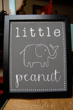 Awe this would be perfect for my baby's nursery cuz at the moment I don't know if I'm having a girl or boy so I've been calling it my little peanut :)
