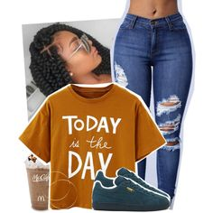 A fashion look from June 2016 featuring Puma sneakers. Browse and shop related looks. Dope Outfits, Urban Outfits, Outfits For Teens, Casual Outfits, Fashion Outfits, Chill Outfits, Teenager Outfits, Girly Outfits, Dress Outfits