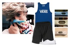 """""""I think it's safe to say I'm pregnant *smiles big* -David"""" by dying-slowly ❤ liked on Polyvore featuring Vans, 2XU, men's fashion and menswear"""