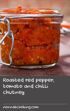 "Roasted red pepper, tomato and chilli chutney | ""This chutney is a great one to have in your Indian repertoire and with this in the fridge you can add instant flavour to all your curries and loads of other dishes too. I use it in my 5-minute chicken curry to add loads of instant flavour. Stored in an airtight container, it will keep in the refrigerator for 1 month, so you can be sure it will never go to waste."" Anjum Anand, Anjum's Australian Spice Stories"