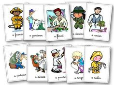 Flashcards métiers anglais Teaching French, Teaching English, English Lessons, Learn English, Pre Primary School, Alternative Education, Jobs, Community Helpers, English Vocabulary