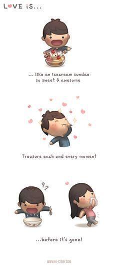HJ Story - Treasure what you love, before it's too late… :D . Hj Story, Cute Couple Cartoon, Cute Cartoon, Cartoon Head, Cute Love Stories, Love Story, Love Is Sweet, What Is Love, Ah O Amor