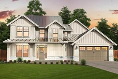 Flexible Craftsman Lodge Home Plan with Two Master Suites - 85226MS - 02