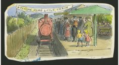 Set of original illustrations for 'The Little Train' by Graham Greene by Edward Ardizzone Children's Book Illustration, Watercolor Illustration, Edward Ardizzone, Newbery Medal, Graham Greene, Image Makers, Children's Picture Books, Kids Writing, Children's Literature
