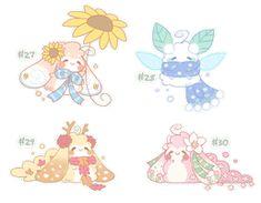 Fluffbits on Cakie-and-Friends - DeviantArt Cute Cartoon Drawings, Cute Kawaii Drawings, Cute Animal Drawings, Cartoon Art Styles, Fluffy Animals, Cute Baby Animals, Art Challenge, Cute Bunny, Sticker Design