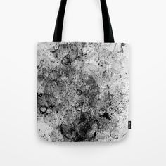 Abstract Artwork Greyscale #3 | Different abstract artworks were painted to create interesting structures. #Painting #Decoration #Unique #Design #Abstract #Painting #Abstraction #watercolour #watercolor #point #dots #Art #Malerei #Structure #Greyscale #Black-and-white #Society6 #Totebag