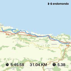 Paseo de 31.04 km para el @clubdelpaseo #caminodesantiago #caminodelnorte #rutadelacosta #Asturias