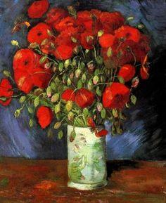 Van Gogh: Vase with Red Poppies