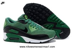 Nike Air Max 90 Premium EM Womens Trainers Lucky Green Black For Wholesale