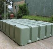 under deck water storage, 2000L. 2400mm Long x 1800mm Wide x 550mm High--whoah, total water envy!!