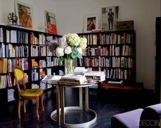 Photographer Simon Upton Designer Nate Berkus Featured in Brian Atwood and Nate Berkus at Home in Milan Issue April 2009 Nate Berkus, Milan Apartment, Home Libraries, Brian Atwood, Love Home, The Fresh, Decoration, Interior Inspiration, Houses