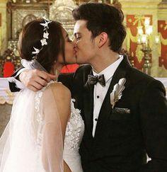 Love❤️!  OTWOL Finally Filipino Guys, James Reid, Nadine Lustre, Wedding Kiss, Jadine, Partners In Crime, Bae, Beautiful Pictures, Couples
