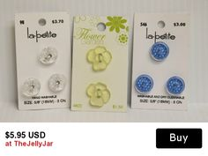 Collection of translucent buttons, new on card