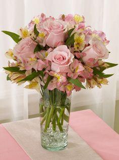 pink roses Flower arranging.
