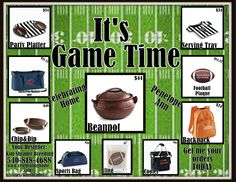 Its GAmeTime, Get ready For tailgating and Super Bowl Parties Now at www.celebratinghome.com/sites/kimshrader