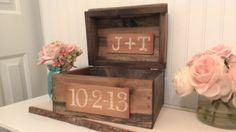 rustic wedding card box, burlap wedding reception card box