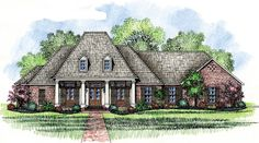 Louisiana+Style+House+Plans | ... House Plan, Country French House ...