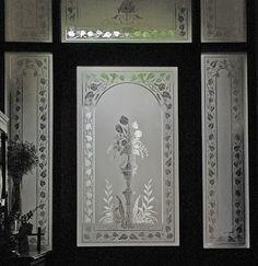 Verrier: Etched Glass Door Set