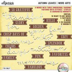 Autumn Leaves   Word Arts