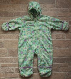 2b9b08e1c Columbia Baby Toddler Girl 18 Months Green Floral Fleece Bunting Hooded  Snowsuit