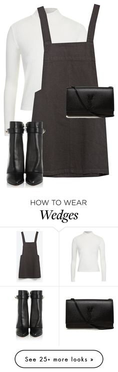 """""""Untitled #10165"""" by alexsrogers on Polyvore featuring Topshop, Zara, Givenchy and Yves Saint Laurent"""