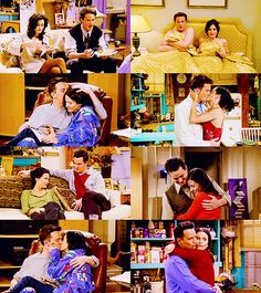 Monica and Chandler. They're like the cutest tv couple ever besides Marshall and Lily