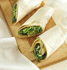 Caesar-style salad wraps from Woolworths Taste Magazine @Tastyones