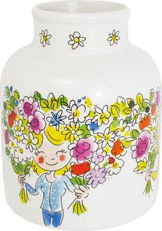 De nieuwe vaas Even Bijkletsen van Blond-Amsterdam is nu verkrijgbaar bij ons in de winkel en webshop!
