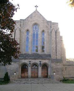 This Roman Catholic parish was started in 1830 by German immigrnats. The church is known as the Assumption Grotto Church, due to the popularity of the grotto, completed in 1881, which was built as a replica of the Sanctuary of Our Lady of Lourdes in France. The church complex includes the grotto, a 1929 church, a rectory, convent, and cemetery.