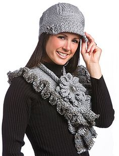 Greystone Scarf & Hat, part of Crochet!'s FREE Quick Gift Crochet Pattern of the Month. Get the download here: http://www.crochetmagazine.com/crochet_project.php?fcebkcc