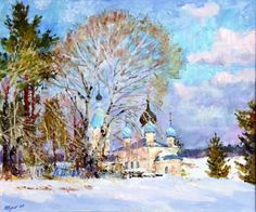 The beginning of spring  --------------------------------------------------------------------------------    Artist     Valeri Izumrudov