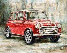 Title  Mini Cooper S 2000   Artist  Joey Agbayani   Medium  Painting - Acrylic On Canvas