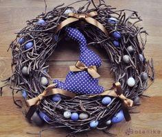 ~ Easter wreath violet rabbit bunny by botanicbotanic on Etsy Happy Easter, Easter Bunny, Easter Eggs, Easter Wreaths, Christmas Wreaths, Christmas Crafts, Kanzashi, Diy Wreath, Wreath Ideas
