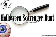 Halloween Scavenger Hunt with free printable at The Classroom Creative