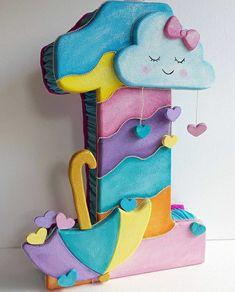 Birthday Decorations At Home, Balloon Decorations, Pinata Party, Minnie Birthday, Ideas Para Fiestas, Birthday Numbers, Craft Kits, Birthday Party Invitations, Party Themes
