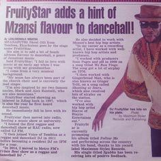 Get yourself a copy of todays @DailySun & read up on your boy Mr Moda aKa FruityStar in page 11 #SunBuzz. CHAT demma CHAT but WORK we ah WORK, Baad Mind ah go kill dem. #Mzansi_Dancehall_Reggae #Follow_Me #Maximum_Stylez (((KABOOM))) Reggae, You Got This, Mindfulness, Names, Music, Musica, Musik, Its Ok, Muziek
