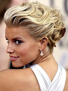 really beautiful updo hair on jessica simpson