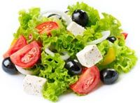 Salad With Feta Cheese, Tomatoes and Olives