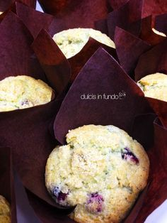 Muffins Mirtilli  Zucchero di canna by dulcis in fundo