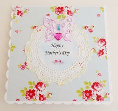Cottage Chic Mother's Day Card by picocrafts on Etsy, $4.00