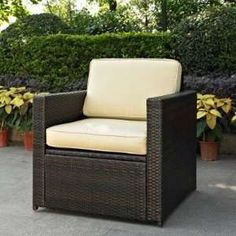 Garden Treasures Patio Furniture Replacement Cushions Wicker Chairs  Outdoor. Palmetto All Weather Wicker Armchair Black