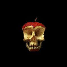 Scary Healthy Food: Fruit & Veggie Skulls -- because an apple a days keeps...oh right.