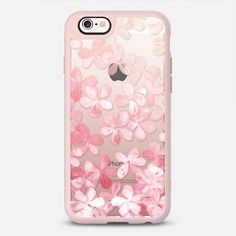 Spring Blossoms - pastel pink & cream floral painted pattern on transparent - New Standard Case