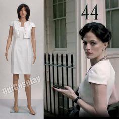 Sherlock Holmes Irene Adler Cosplay Costume Woman Dress White Halloween Dress  #Affiliate