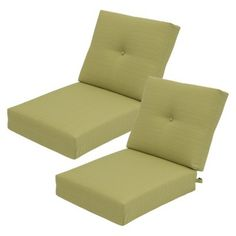 Threshold™ Squier Replacement Club Chair & Loveseat Cushion Set in Lime available at Target. Outdoor Cushions, Florida Home, Club Chairs, Floor Chair, Love Seat, Beach House, Furniture, Target, Lime