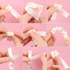 paso a paso flores de cinta