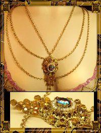 topaz edwardian swag drop necklace th