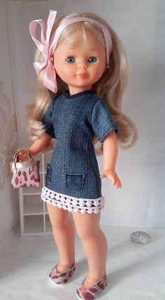 VESTIDOS CALZADO Y COMPLEMENTOS NANCY ,LESLI Vestidos Nancy, American Girl, Pram Toys, Nancy Doll, Doll Making Tutorials, Diy Doll, Doll Accessories, Baby Dolls, Doll Clothes