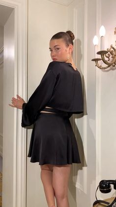 Daily Fashion, Fashion Art, Fashion Trends, Chic Outfits, Fashion Outfits, Edgy Dress, Iranian Women Fashion, Fashion Sewing, Satin Dresses